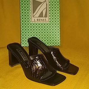 J. Renee Black Snake Heels size 7N